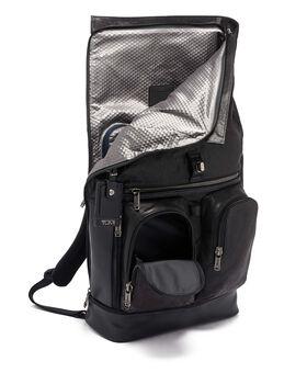 London Leder-Rucksack mit gerolltem Überschlag Alpha Bravo