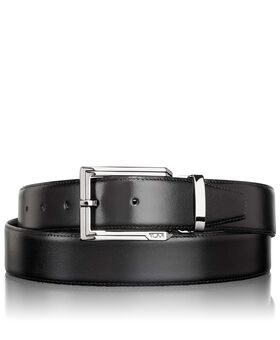 Polished Etched Buckle Reversible Belt Belts