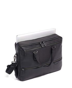 Harrow Aktentasche aus Leder mit Doppelreißverschluss Harrison