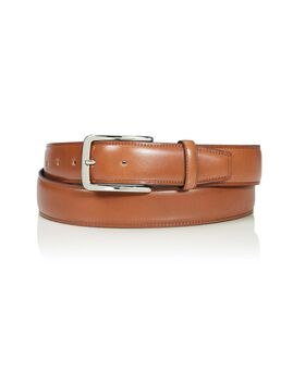 Contrast Edge Leather Belt Belts