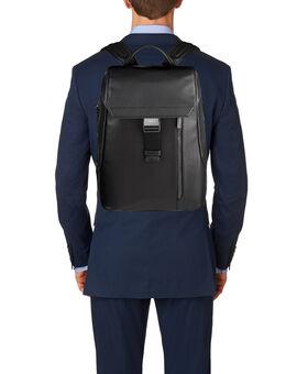 Dresden Flap Leather Backpack Ashton