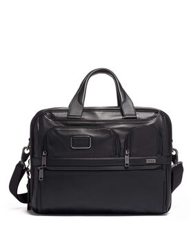 Expandable Organizer Laptop Brief Leather Alpha 3